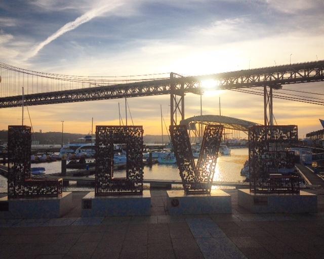 Love Lissabon Brücke