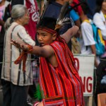 A photo of a child performer during the Grands Street Dancing Parade of Panagbenga 2013