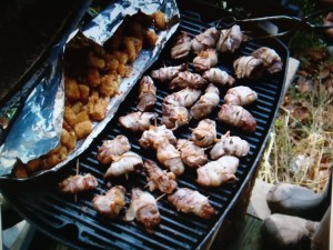 Duck Nuggets II by Ken Bora - right at camp, on the portable grill!