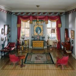 E 28 German Sitting Room of the Biedermeier Period 1815 50 The