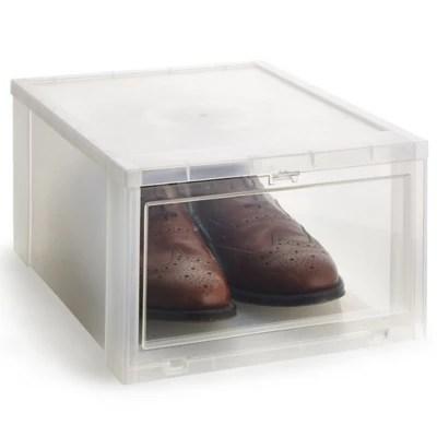 Lakeland Large Stackable Drop Front Clear Shoe Storage Box