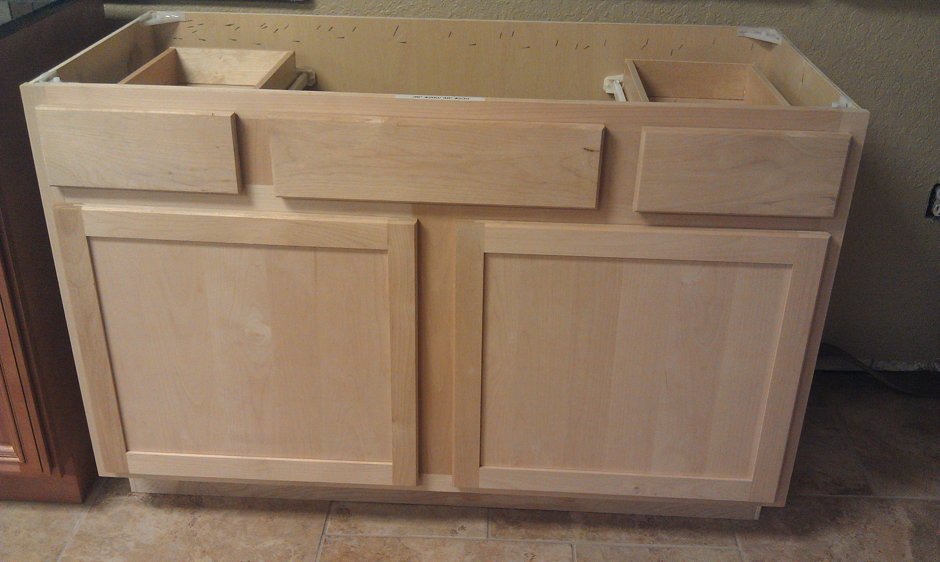 Unfinished Kitchen Cabinets Tampa Unfinished Shaker Style All Wood Cabinets In Stock