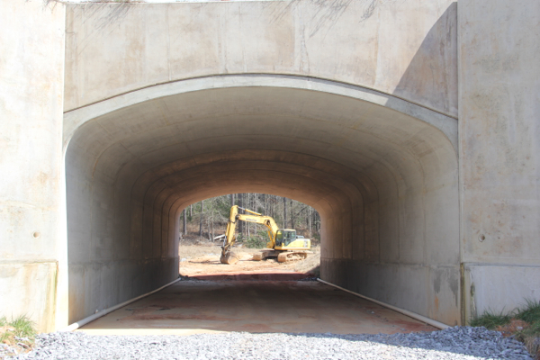 Tunnel at Russell Crossroads