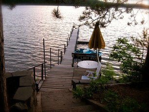 Cabin 1 - View of Dock and Lake