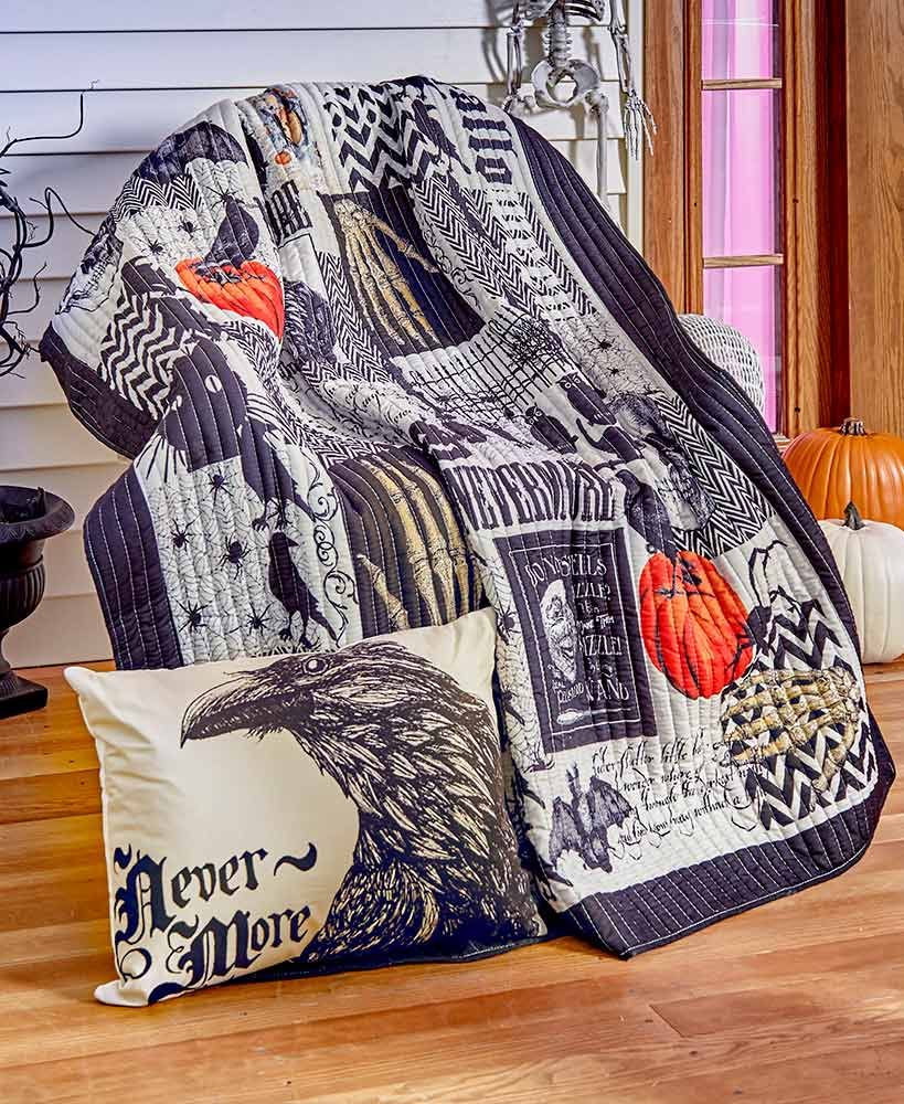 Lounge Throw Nevermore Halloween Throw Or Pillow The Lakeside Collection