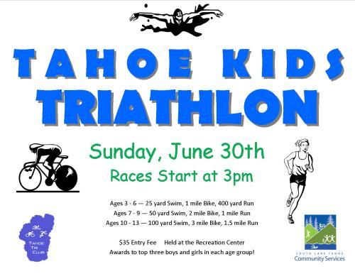 Tahoe Kids Triathlon Poster
