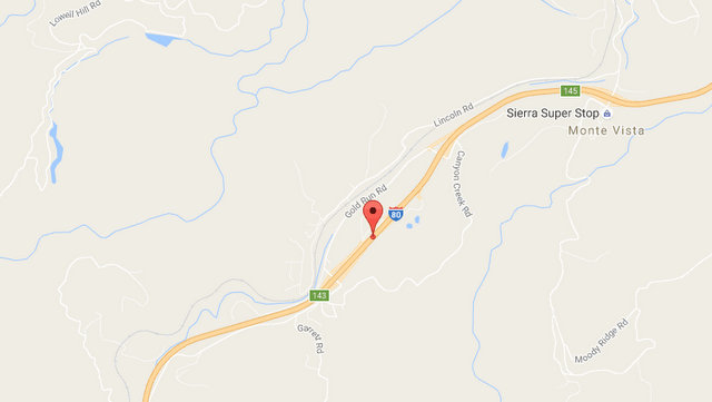 Vehicle Off Roadway Into Trees On I-80 Near Gold Run