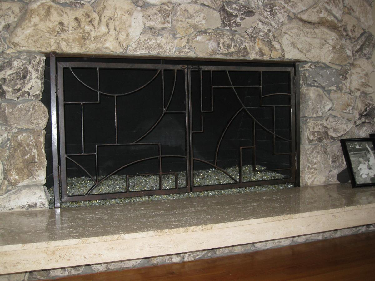 Fireplace Screens Tree Design Home Decor Lakeside Sculpture