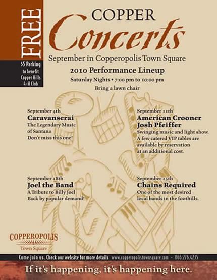 Copper Concert Poster