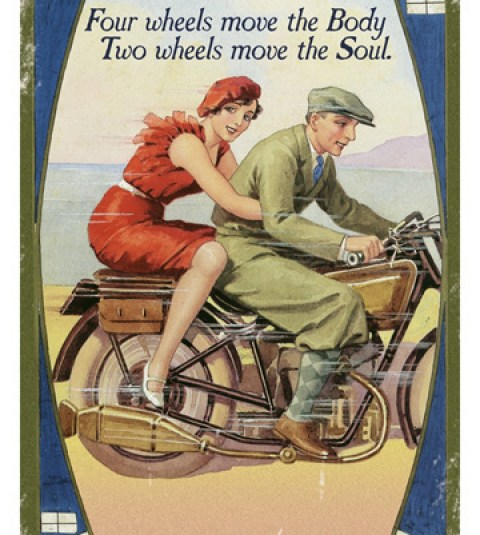 Four wheels move the body. Two wheels move the soul