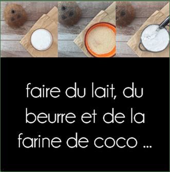 La ligne gourmande comment faire du lait du beurre et de la farine de coco - Comment faire du lait de coco ...