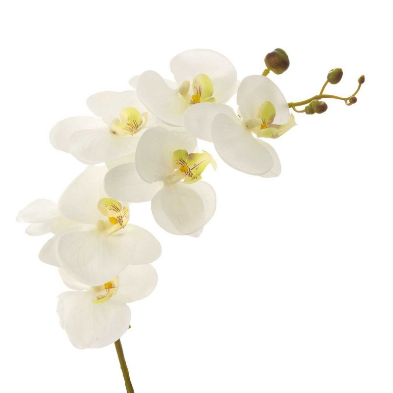 Flor Artificial Rama Artificial Orquidea Blancas 87