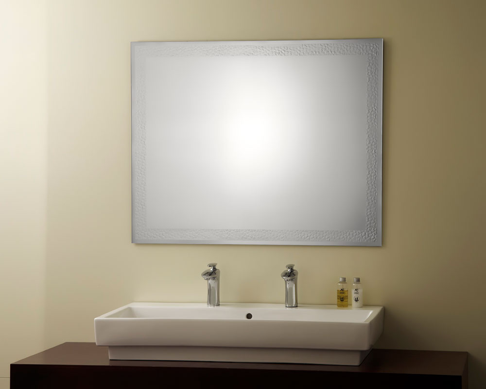 Textured Glass Framed Mirrors