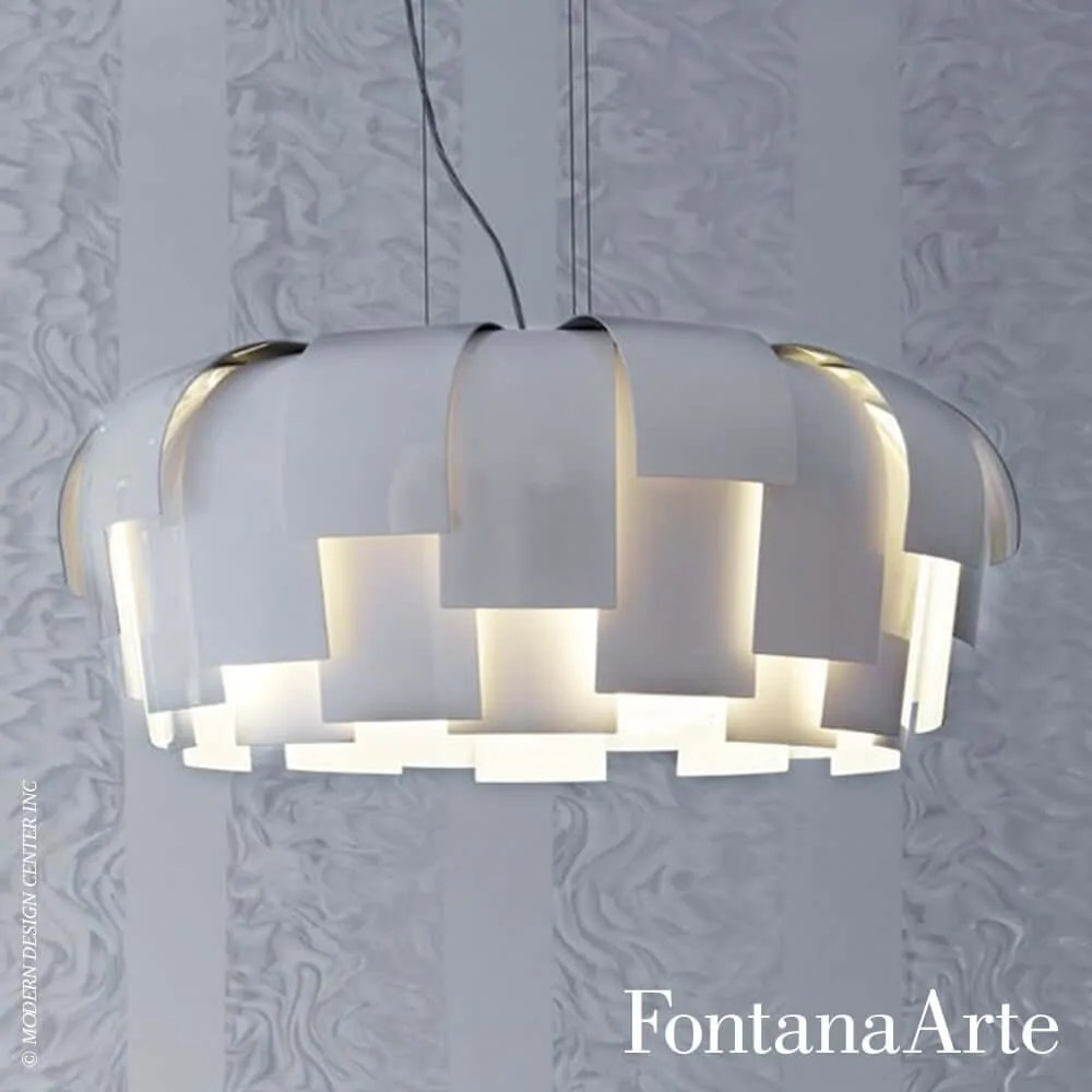 Fontana Arte Wig White Suspension Fontana Arte