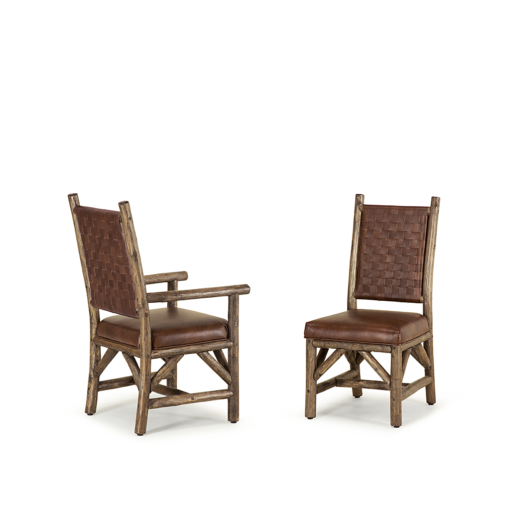 Arm Chair Side Rustic Dining Side Chair And Arm Chair La Lune Collection