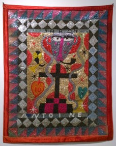Fabric, sequins, and beads, 31.5 x 39.5 in. $7,000.00