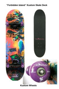 skate deck with custom wheels, 8 x 30.5 in. $190 with wheels, $150 without wheels