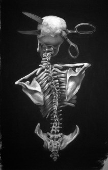 Jeffrey Richter - HeadacheCharcoal on paper. 13 x 19 in., $950