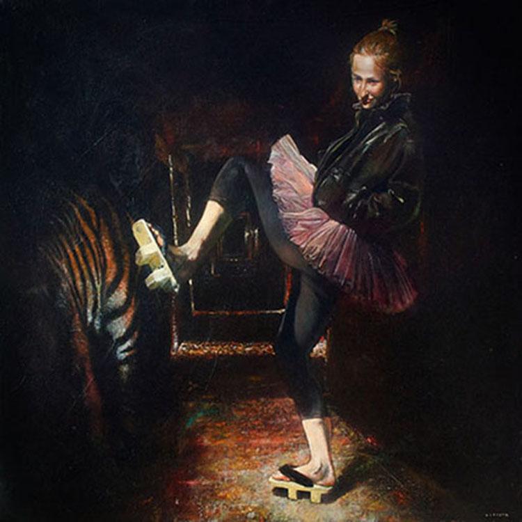 """Mark Gleason - Geta Oil on canvas, 32x32"""" framed, $2,500"""