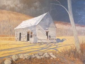 Sonny King - The Old Schoolhouse Oil on canvas, 40x30 in. $5,000