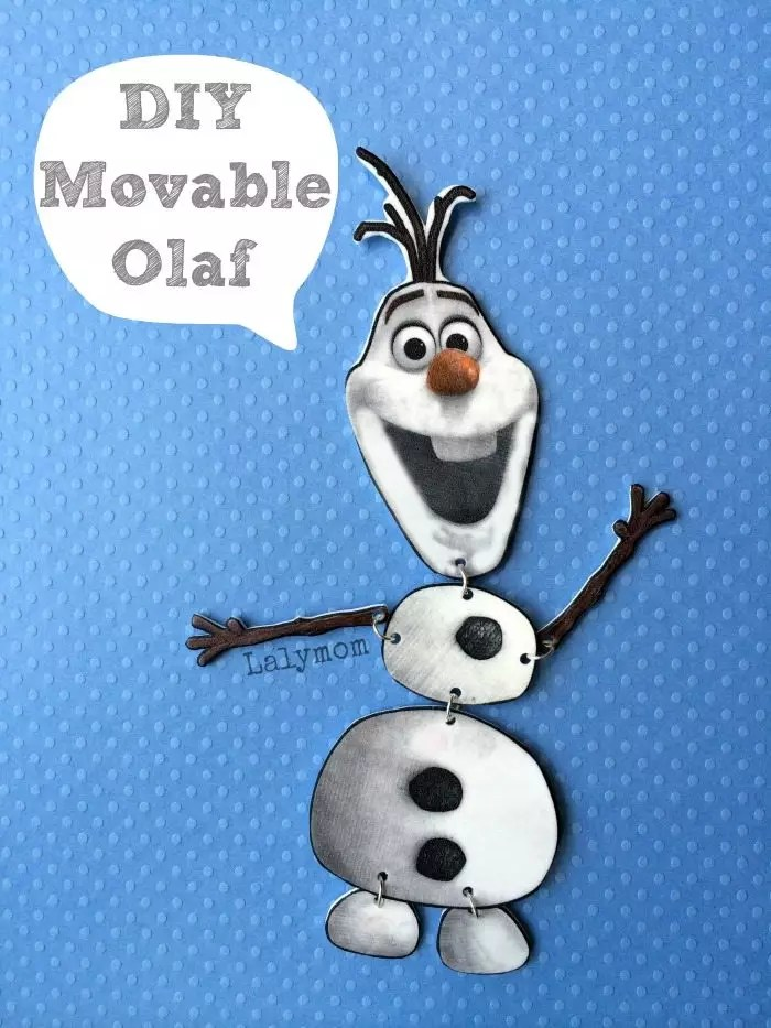 Frozen Olaf Craft Jointed Olaf Figure - LalyMom