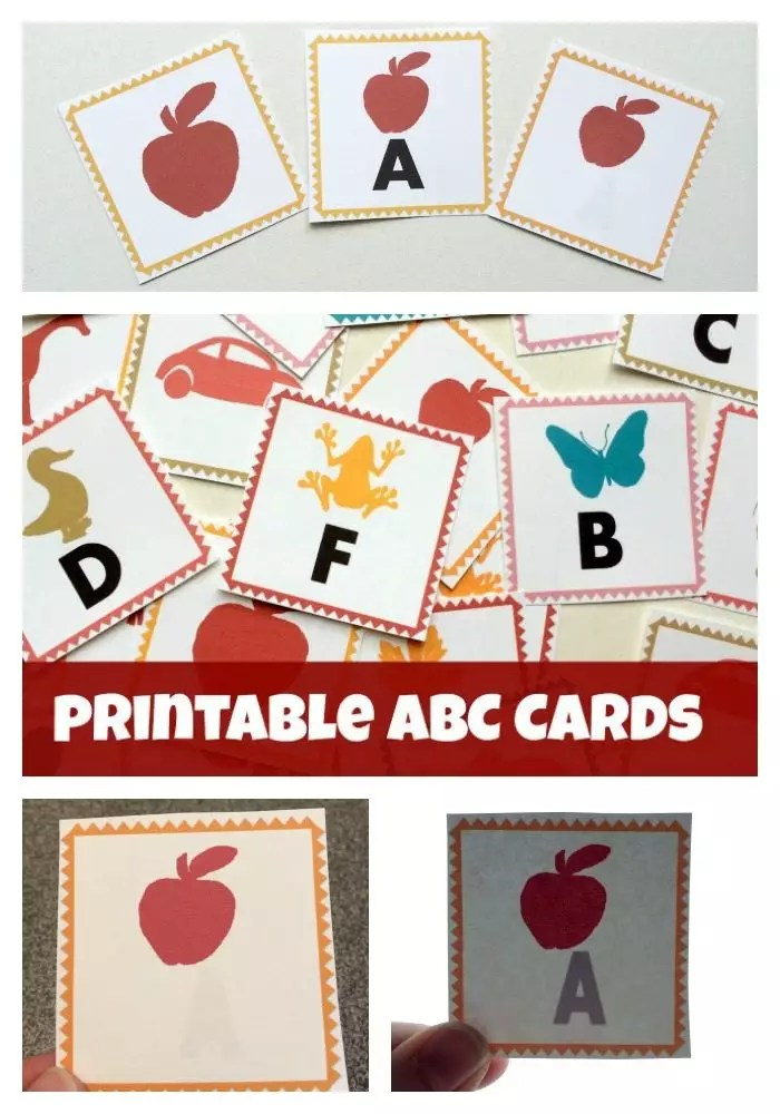 ABC Letters Printable Alphabet Cards - LalyMom