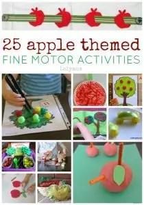 25 Apple Themed Fine Motos Skills Activites on Lalymom.com