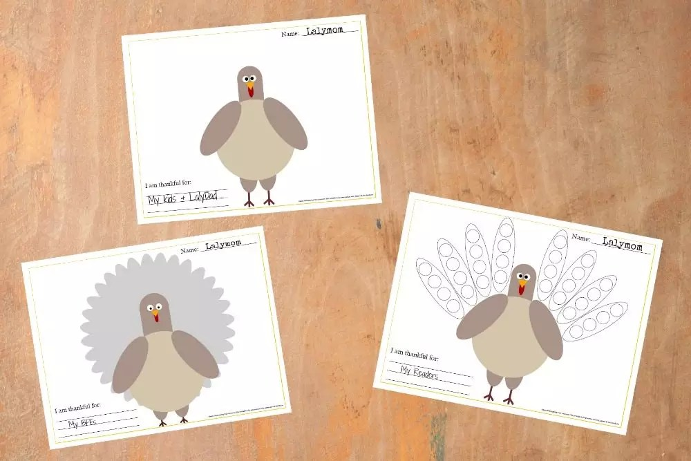 This Turkey Placemat Printable is a Great Kids Thanksgiving Craft