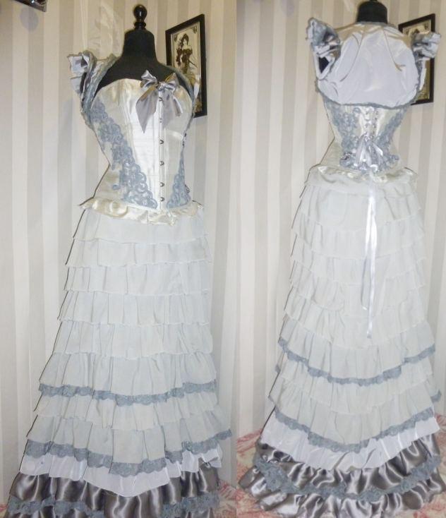 robe-de-mariee-corset-volants-gris