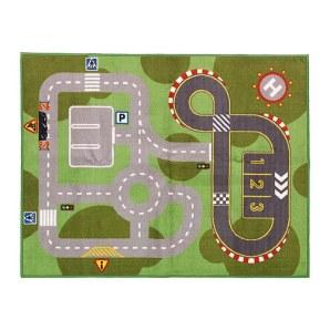 IKEA trains & cars rug