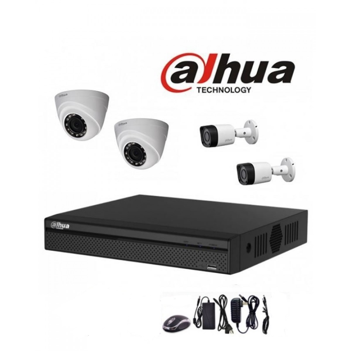 Camera De Surveillance Exterieur Dahua Pack 4 4 Camera Dahua 2 Mp Lamaison