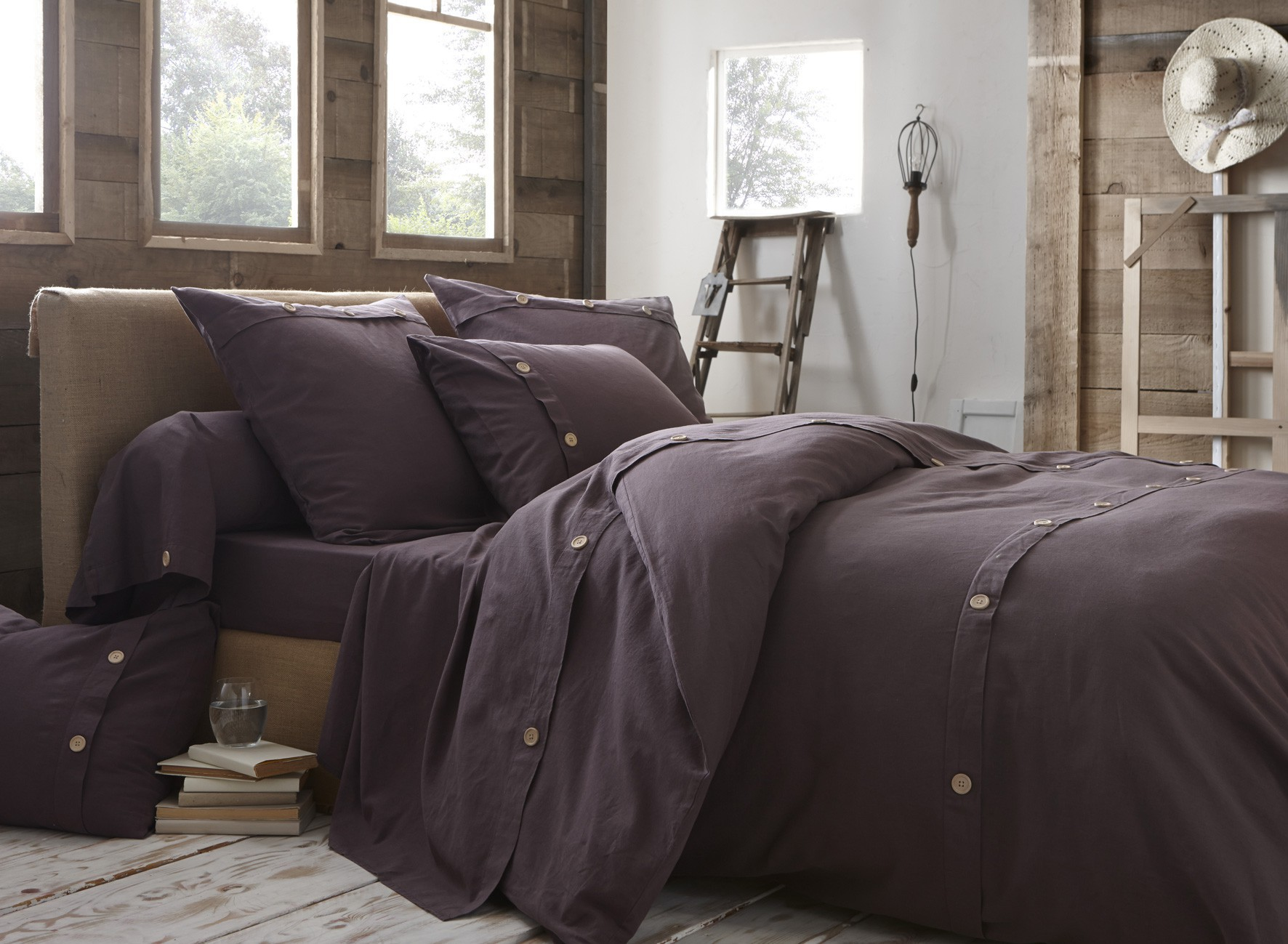 Linge De Lit Cocooning Beautiful Prune Raisin Housse De Couette With Housse De
