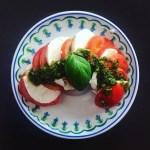 Tomates Mozzarella au Pesto et au Basilic