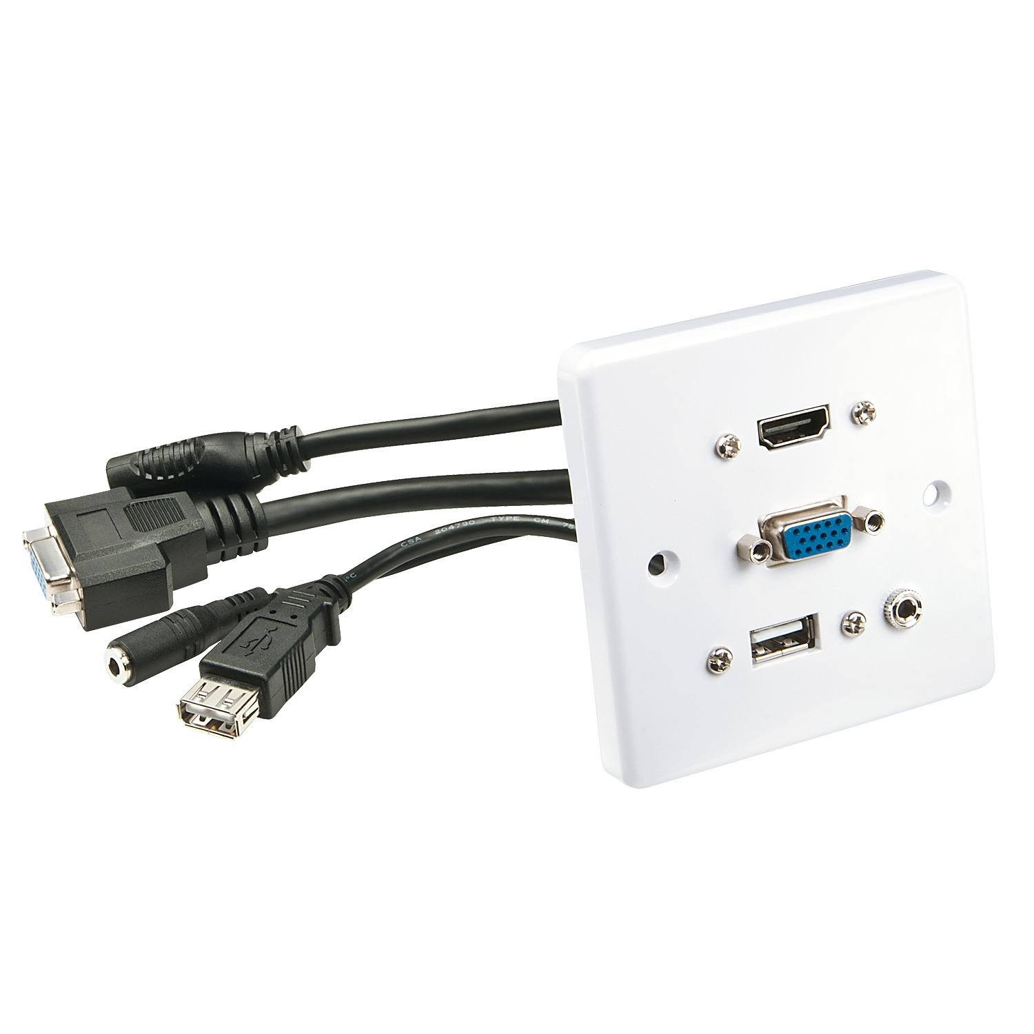 Hdmi Outlet Lindy 60220 Socket Outlet Hdmi Vga Usb A 3 5mm White