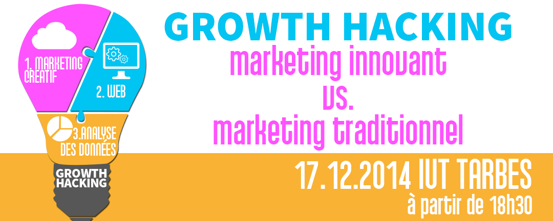 Conférence 'Growth Hacking : marketing innovant vs marketing traditionnel'