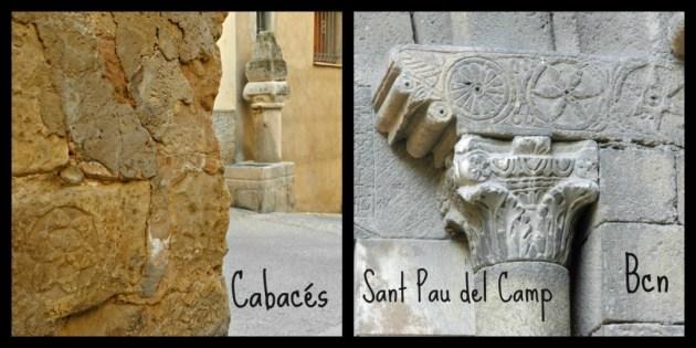 Restos visigóticos en Cabacés y en Barcelona.