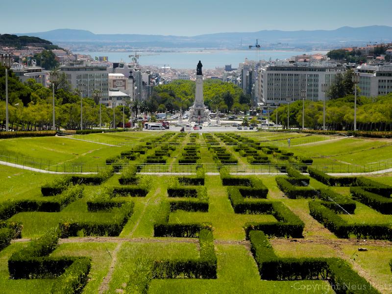 Vista desde el mirador del parque Eduardo VII.