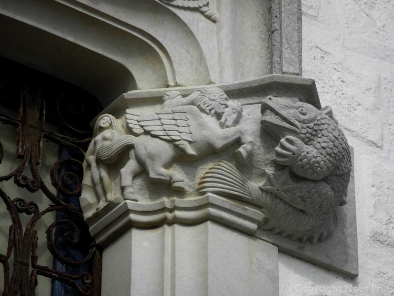 Hermes subido a lomos de Pegaso