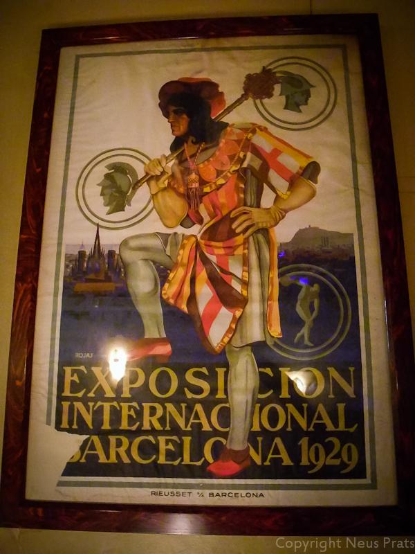 Hermes en el cartel de la Exposición Internacional de 1929
