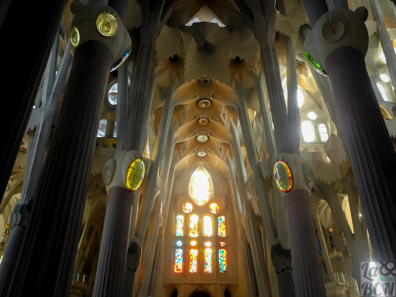 Interior del Temple de la Sagrada Familia