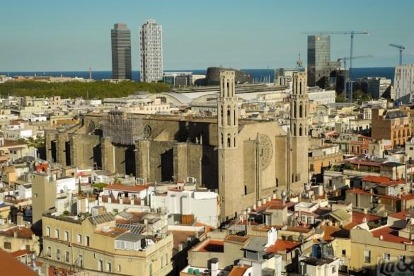 Vista de la Basílica de Santa Maria del Mar