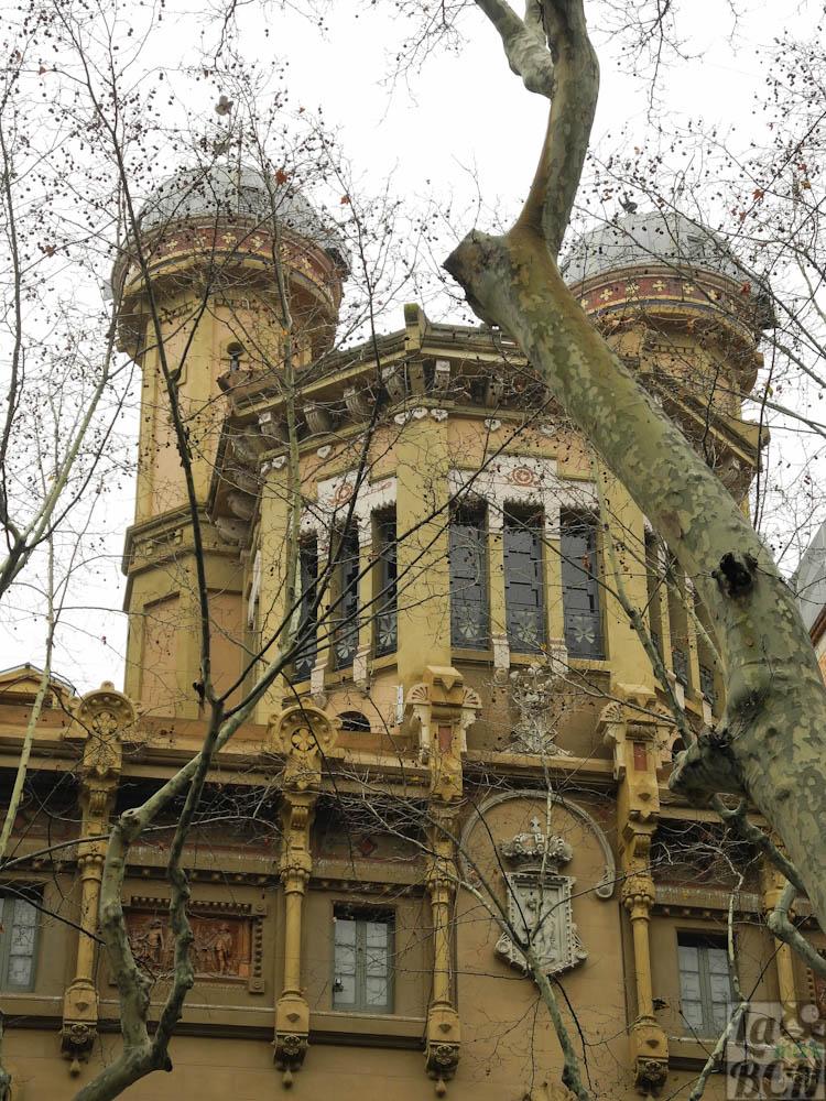 Edificio de la Real Acadèmia de les Ciències i les Arts. La Rambla.