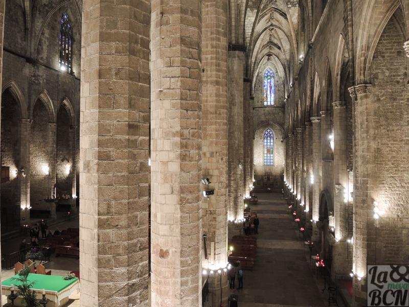 La vista del interior de Santa María del Mar desde cantorias es diferente a la imagen que estamos acostumbrados.