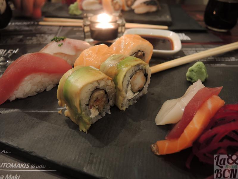 Degustación de sushi.