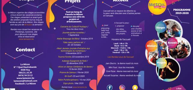 Le programme de la rentrée de La Mézon! 2019 – 2020
