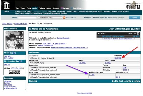 Alojar podcasts en Archive.org 14