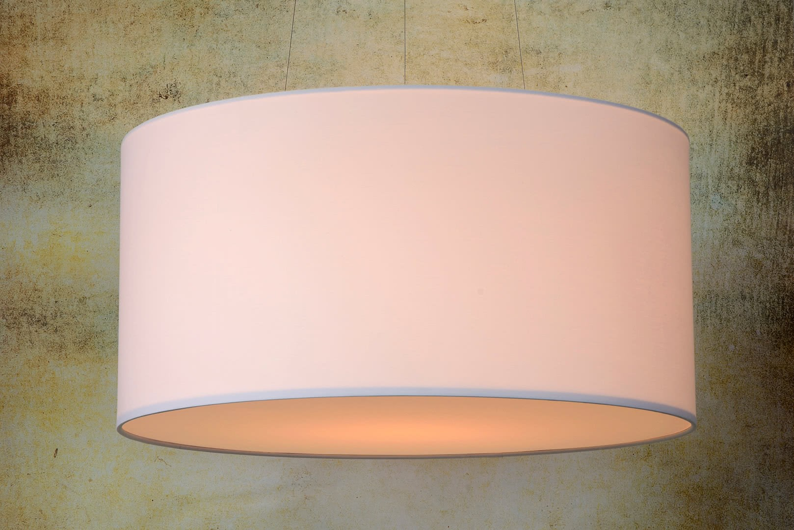 Suspension Luminaire Diamètre 60 Cm Suspension Contemporaine Coton Blanc Ø 60 Cm Carolane
