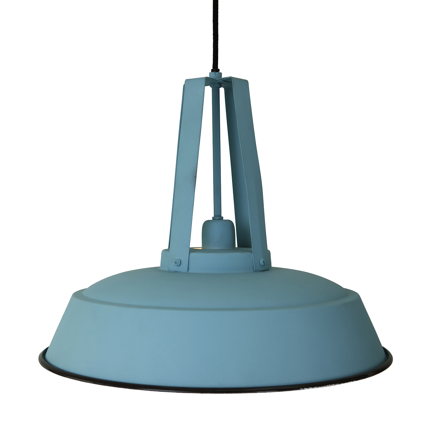 Gros Luminaire Suspendu Suspension Factory Ø 42 Cm Bleu