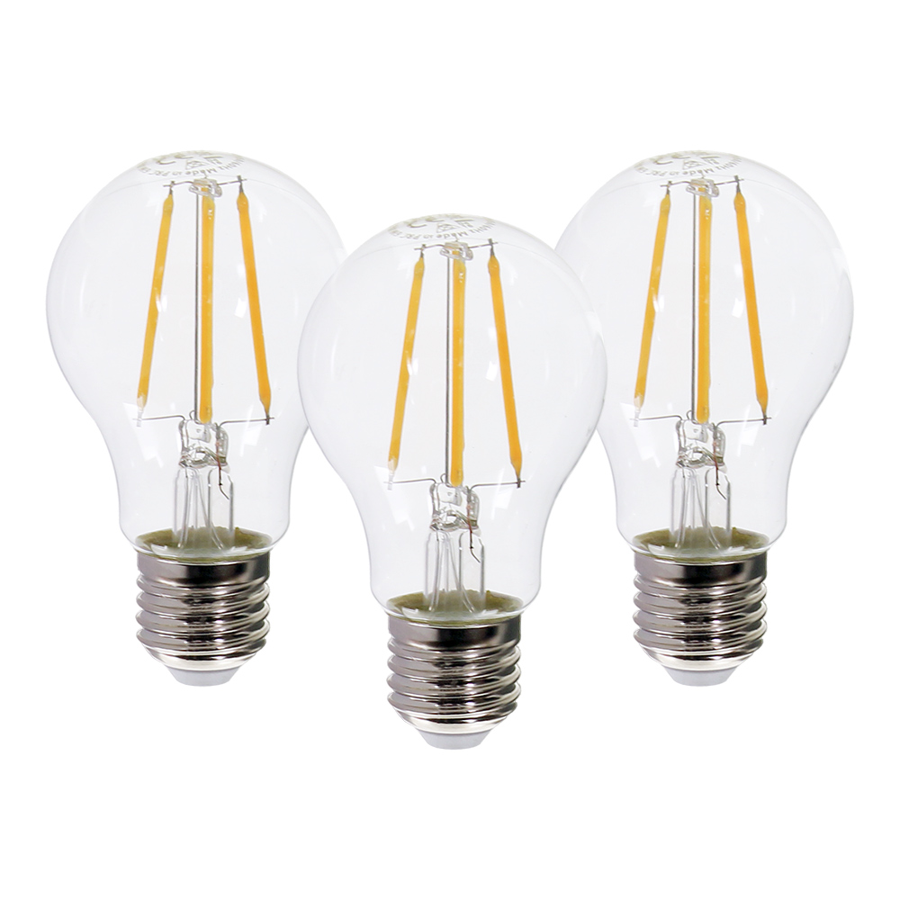 Westlight Led Glühbirne Filament E27 6w Warmweiß 3er Pack
