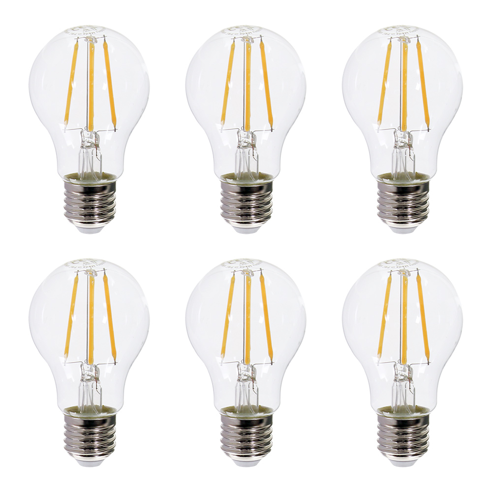 Westlight Led Glühbirne Filament E27 6w Warmweiß 6er Pack